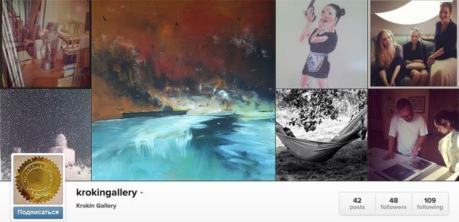 Крокин галерея в Instagram