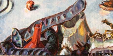 """Нина Котёл, из проекта """"Их нельзя удержать, охватить или использовать"""", холст, масло, 2015-2016 гг."""